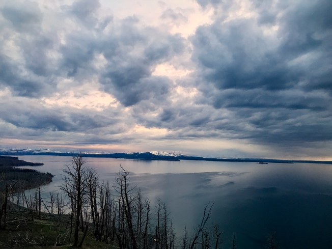 Clouds with Grand Tetons in the far distance